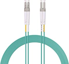 Fiber Patch Cable - LC to LC OM3 10Gb/Gigabit Multi-Mode Duplex 50/125 LSZH Fiber Optic Cord for SFP Transceiver, Computer Fiber Networks and Fiber Test Equipment, 1-Meter(3.3ft)
