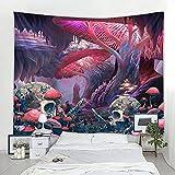 Seta psicodélico tapiz abstracto art deco manta cortinas colgando casa dormitorio manta tela de fondo A3 100x150cm