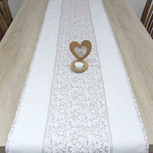 Wunderbare Tischläufer, das Beste Geschenk für die schönste Küche von HomeAtelier, Beige Spitze, 100x40cm, 130x40cm, 150x40cm, 170x40cm