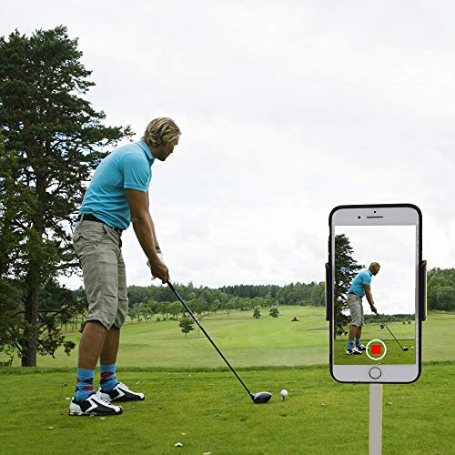 Golf Handyhalter Swing Record,Golf Swing Handy Clip Halter und Trainingshilfe Golfzubehör,Golf Swing Analyzer Universal für Golf Trolley,Funktioniert mit jedem Smartphone,schnelle Einrichtung