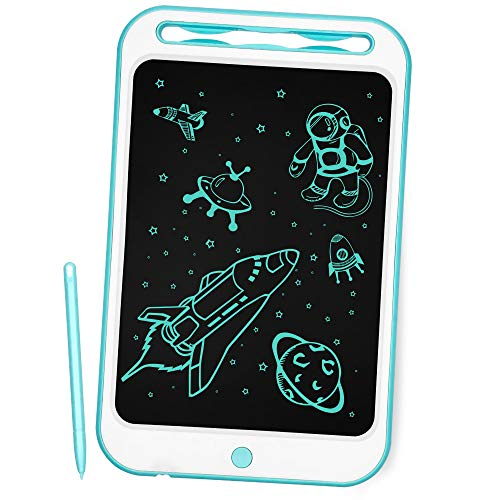 Richgv Aggiornato LCD Writing Tablet, 10 Pollici Elettronico Tavoletta Grafica Digitale Scrittura, Ewriter Paperless Disegno Pad con Memoria di Blocco per Bambini della Casa Scuola Ufficio (Blu)