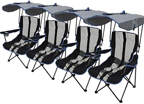 Kelsyus Premium Canopy Chair Navy 4 Pack product image