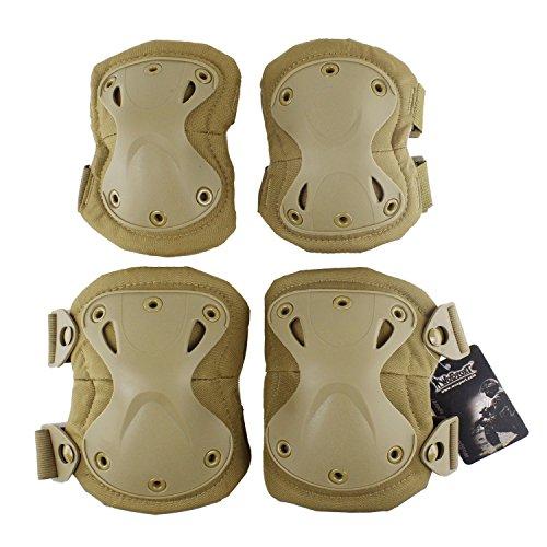 Lejie Tactical Combat Knieund Ellbogenschutz Pads Guard Set für CS Paintball Jagd und andere Outdoor Sport Knieschützer