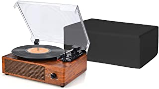 """Turntable Dust Cover, Record Player Protector, Universal Size DJ Turntable Cases Accessory for Your Turntable and Record Player, Water Resistant, Antistatic, 18""""LX14""""Wx7""""H JJZ617"""