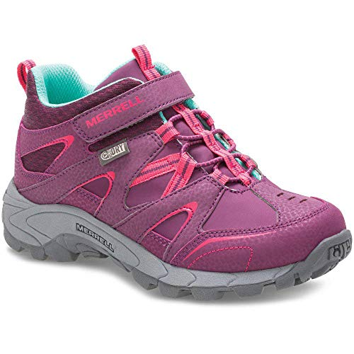 Merrell ML-Light Tech LTR Quick Close, Bottes de Loisirs et vêtements de Sport Unisexe Mixte Enfant, Berry (Marrón), 35 EU