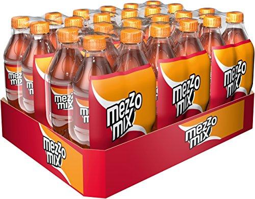 Mezzo Mix, Einzigartiges Mischgetränk aus Cola & Orange in praktischen Flaschen, 6x 4er Pack, EINWEG (4 x 500 ml)