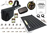 Wild Water Fly Fishing Fortis Series CNC Machined Fly Reel, 9 Foot, 7-Piece, 5-Weight Fly Rod Complete Fly Fishing Rod and Reel Combo Starter Package