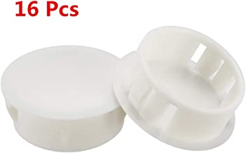 Auxcell Plastic Door Window Mounting Locking Hole Plugs Button Cover 16pcs White