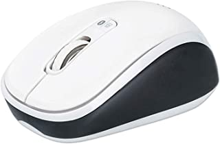 Manhattan Dual-Mode Mouse, Bluetooth 4.0, 2.4 GHz Wireless, 800/1200/1600 dpi, Three Buttons With Scroll Wheel, Black & Wh...