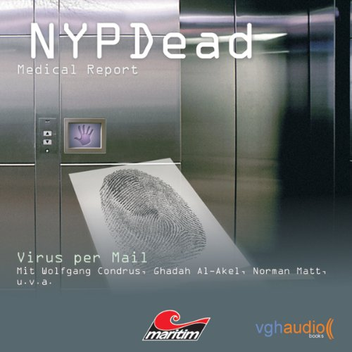 Virus per Mail (NYPDead - Medical Report 4) audiobook cover art