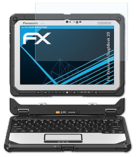 atFolix Schutzfolie kompatibel mit Panasonic ToughBook 20 Folie, ultraklare FX Bildschirmschutzfolie (2X)