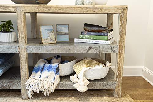 Bloomingville A90901760 Home Accessories Korb aus Seegras mit Griffen, 34 cm, Natur & weiß, 6 Stück - 2