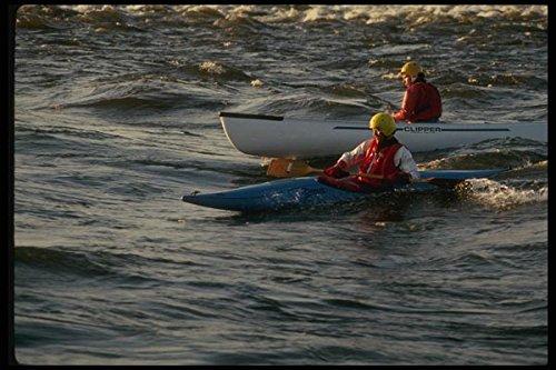 155097 Kayak and Canoe River Ottawa - Póster (A4, 25,4 x 20,3 cm), diseño de kayak y canoa