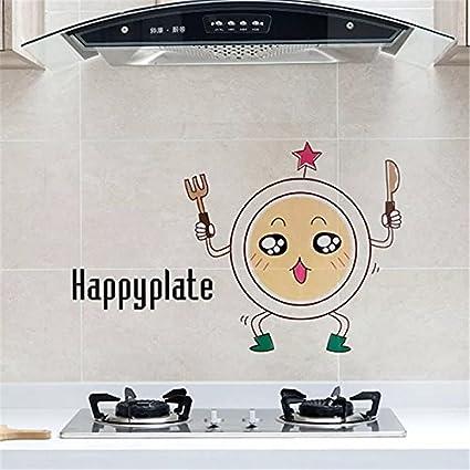 Oil Proof Kitchen Backsplash Wall Protector Peel And Stick Transparent Vinyl Decal Set Of 2 Home Kitchen Amazon Com