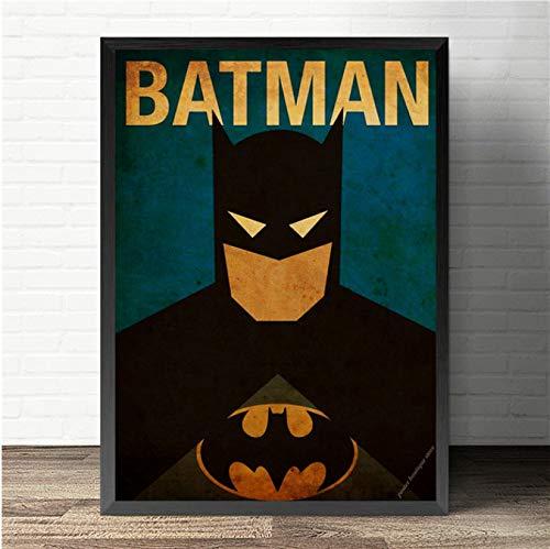 wqmdeshop Super-Héros Marvel Comics Superman Affiche avec Batman Affiches Vintage Décoration De La Maison Toile Peinture sans Cadre Peinture 50X70 Cm (U2316)