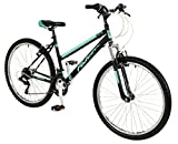 26'Vienne Suspensión delantera–Bicicleta Montaña Bicicleta Falcon (para mujer) en negro nuevo