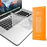 UPPERCASE GhostCover Premium Ultra Thin Clear Keyboard Protector for MacBook Air 2010-2017 and MacBook Pro 13' 15' 17' with or Without Retina Display, 2015 or Older Version
