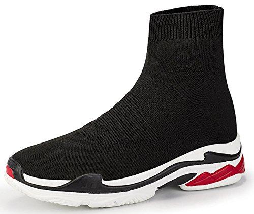 NEWQSING Unisex Scarpe da Ginnastica da Passeggio con Taglio Alto Scarpe Paio Fannullone Comfort Sneakers da Ginnastica in Maglia