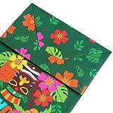 Amosfun Bolsas de papel dulces dulces alimentos embalaje bolsa flamenco tropical hawaiano patrón regalo suministros fiesta 12 piezas