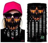 Unbekannt Bedrucktes Multifunktionstuch 3D Straßen Clown weibliche Gesichtsmaske im Freienreitmask,C