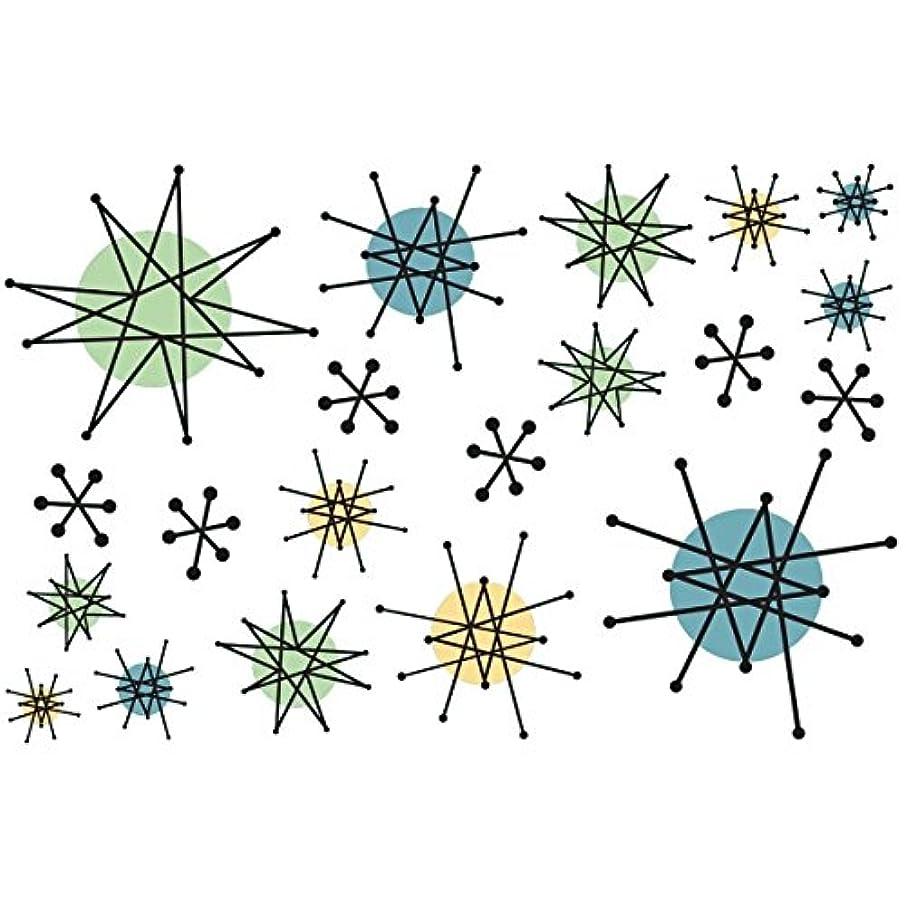 Atomic Starburst Vinyl Stickers Small Sheet