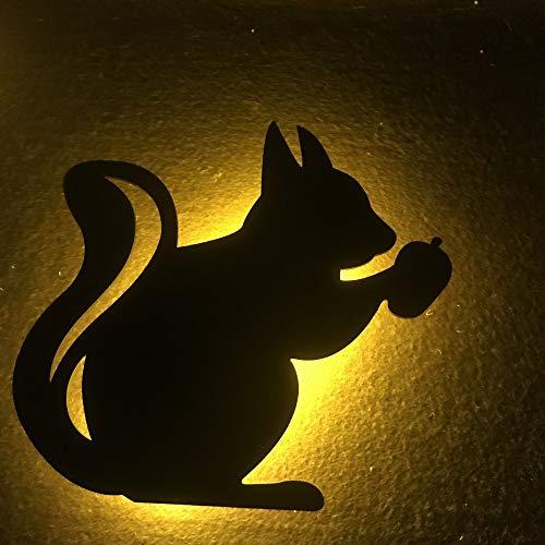 YYQX Lámpara de mesilla de noche, lámpara de dormitorio minimalista, lámpara de mesilla de noche LED moderna, adecuada para hombres, mujeres, adolescentes, niños, niñosardilla23x19x4cm