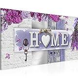 Wandbilder Home Modern Vlies Leinwand Wohnzimmer Flur Steinwand Lila Grau 013712b