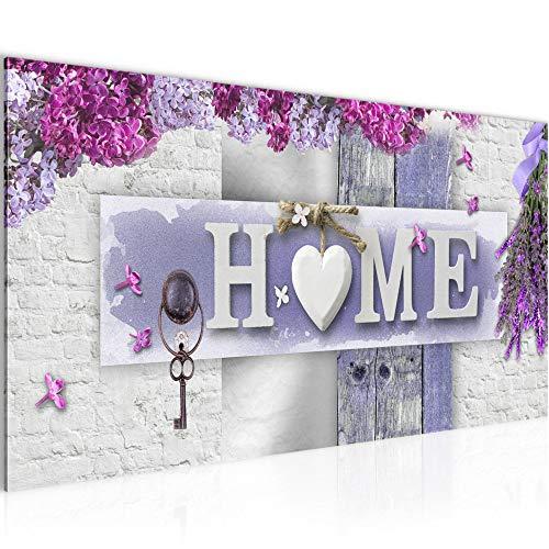 Bilder Home Wandbild Vlies - Leinwand Bild XXL Format Wandbilder Wohnzimmer Wohnung Deko Kunstdrucke Violett 1 Teilig - MADE IN GERMANY - Fertig zum Aufhängen 013712b