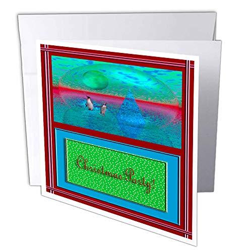 3DROSE GC 18895_ 16x 15,2cm'Penguinland cartolina di Natale festa 7,6cm (confezione da 6)