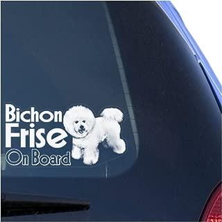 Bichon Frise Clear Vinyl Decal Sticker for Window, Dog On Board Sign Art Print