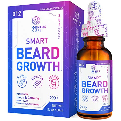GENIUS Beard Growth Oil Smart plus Biotin Supplement