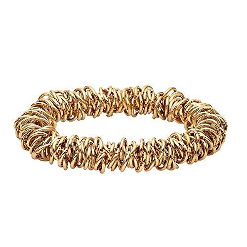 Heideman Armband Damen Stria aus Edelstahl Gold farbend matt Armkette für Frauen mit elastische Größe