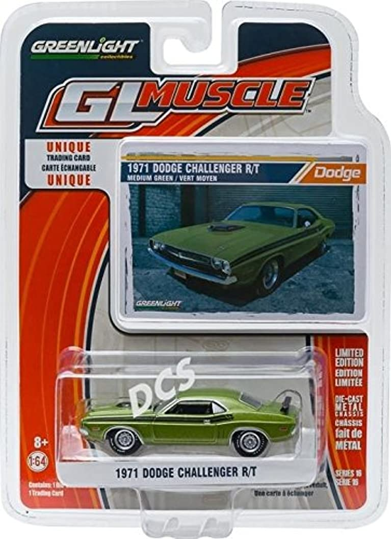Greenlight 1: 64 Gl Muscle Car Garage Series 16 - 1971 Dodge Challenger HEMI R/T Diecast Vehicle pvkfoqoihfj48