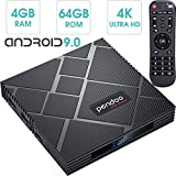 Android 9.0 TV Box 4GB RAM 64GB ROM, Pendoo X10 MAX Android Box