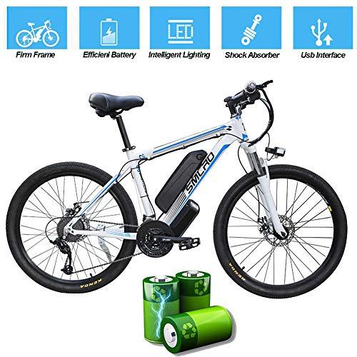 CXY-JOEL Bicicleta Eléctrica para Adultos, Bicicleta de Montaña Eléctrica, Bicicleta Ebike de Aleación de Aluminio Extraíble de 26 Pulgadas Y 360 Vatios, Batería de Iones de Litio de 48V / 10Ah para