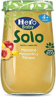 Hero Solo Tarrito Fruta Manzana Melocotón Plátano ECO -