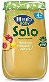 Hero Solo Tarrito Fruta Manzana Melocotón Plátano ECO - 190 gr (BIO)...