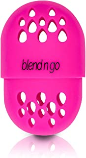 blend n go | Makeup Sponge Travel Container | Soft Silicone Holder