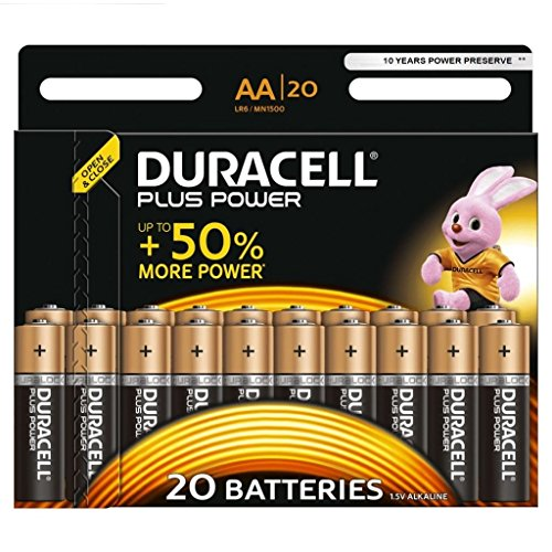 Duracell Plus Power Alkaline Batterien AA (DUR017986) 20er Pack