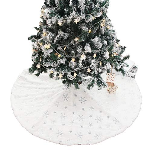 Yuncai Weihnachtsfeiertags Party Dekor Weihnachtsbaum Rock Weihnachtsbaumdecke Decke Unterm Weihnachtsbaum (Style#4, 90cm)