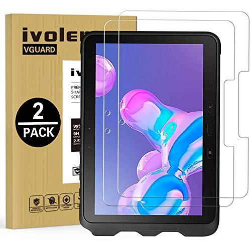 ivoler 2 Stücke Panzerglas Schutzfolie für Samsung Galaxy Tab Active Pro 10.1 Zoll (SM-T545 / SM-T547), Panzerglasfolie Folie Displayschutzfolie Hartglas Gehärtetem Glas DisplayPanzerglas