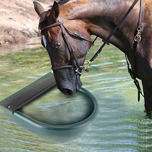 GOTOTOP Flotador de bebidas, 4 L, automático, con boquilla de latón, cuenco para bebidas, para vacuno, caballos, ovejas, cabras o perros (verde)