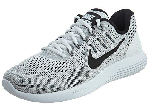 Nike Men's Lunarglide 8 White/Black Wolf Grey Running Shoe 8