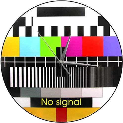 Reloj De Pared Reloj De Pared Silencioso Retro Tv Pantalla De Prueba De Color Reloj De Pared Impreso Señal De Ajuste De Fondo Decoración De Pared Moderna Sin Señal Reloj De Pared De Tv Adecuado Para D