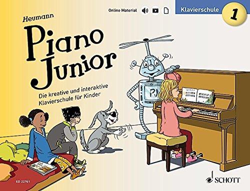 Piano Junior: Klavierschule 1: Die kreative und interaktive Klavierschule für Kinder. Band 1. Klavier. Ausgabe mit verschiedenen Online-Materialien. (Piano Junior - deutsche Ausgabe)