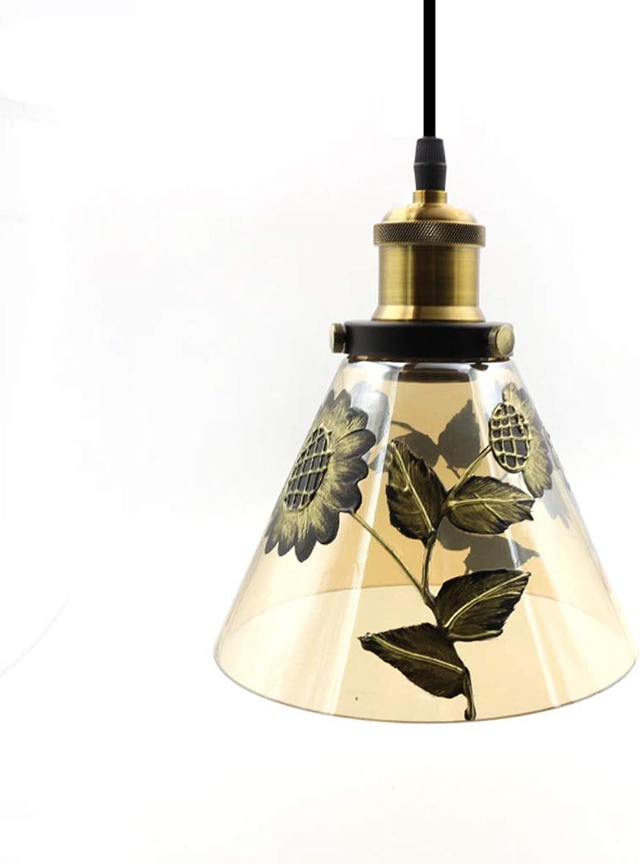 Z Innenleuchten Kronleuchter, Art Glass Kronleuchter hhenverstellbare Beleuchtung Edison Restaurant Cafe Lighting (Farbe   A)