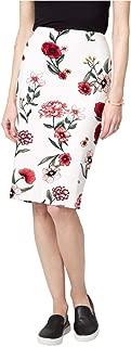 LE CHÂTEAU Floral Ponte Knit Pencil Skirt for Women