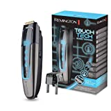 Remington TouchTech MB4700 – Barbero, Cuchillas de Titanio, Inalámbrico, 175 Ajustes, Lavable, Litio, Detección del Nivel de Vello Facial, Negro
