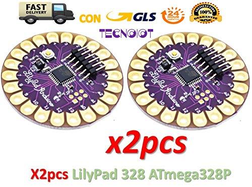 TECNOIOT 2pcs Lilypad 328 Main Board ATmega328P ATmega328 16M  2 unids Lilypad 328 Main Board ATmega328P ATmega328 16M
