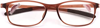 Anti-Blue Light Hyperopia Reading Glasses Ultra-Light Comfort for Men and Women Anti-Fatigue Computer Glasses (Color : Khaki, Size : 1.5X)